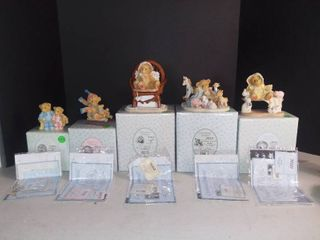 lot of 5 Cherished Teddies Figurines