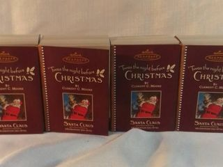 lot of 4 Twas the Night Before Christmas  Santa Claus 2001 Hallmark Keepsake Ornament QRP4495