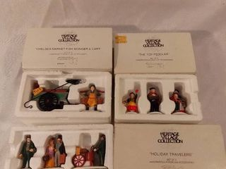 lot of 3 Dept 56 The Heritage Village Collection Christmas Figurines