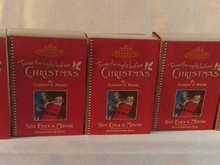 lot of 5 Hallmark Keepsake Ornament 2001  Twas the Night Before Christmas  Not Even a Mouse