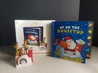 Hallmark Keepsake Up on the Housetop Interactive Ornament and Storybook Set