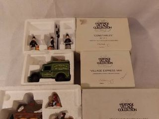 lot of 3 Dept 56 The Heritage Village Collection Christmas Figurines Handpainted Porcelain