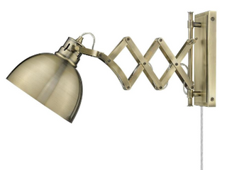 Golden lighting Hawthorn lighted Aged Brass Industrial Wall Scone