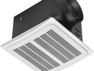 Hampton Bay 140 CFM Ceiling Mount Quick Connect Humidity Sensing Bathroom Exhaust Fan  White