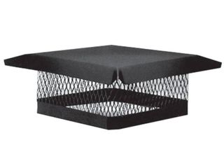 Master Flow 13 in  x 13 in  Galvanized Steel Fixed Chimney Cap in Black NEW READ