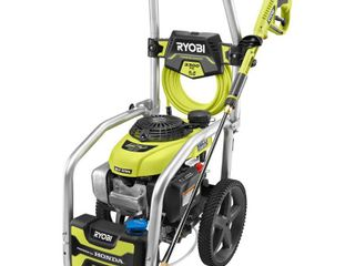 RYOBI 3300 PSI 2 3 GPM Cold Water Gas Pressure Washer with Honda GCV190 Idle Down