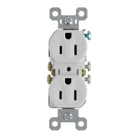 Pass   Seymour 3232WCP8 Standard Duplex Outlet  15A  125V  White   10 Pack