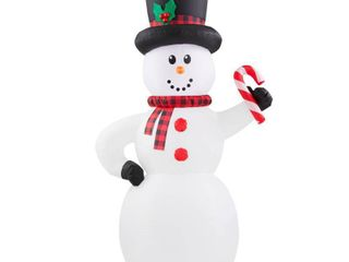 Home Accents Holiday 6 5 ft  Inflatable Snowman