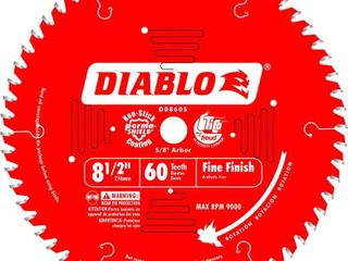 Freud D0860S Diablo 8 1 2 Inch 60 Tooth Fine Finishing Miter Saw Blade with 5 8 Inch Arbor