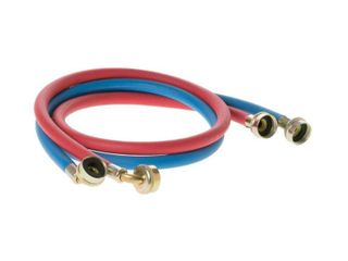 GE 4 ft  Universal  1 Blue and 1 Red  Rubber Washer Hoses  2 Pack