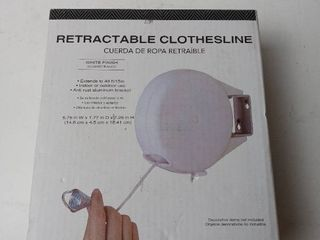 Retractable Clothes line white extends to 49 ft