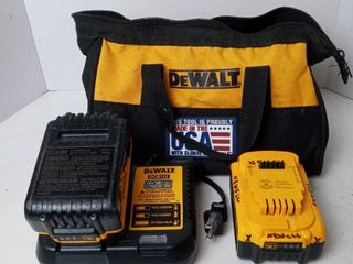 DeWalt battery and charger set 20v max 5AH 2 batteries charger and carrying case