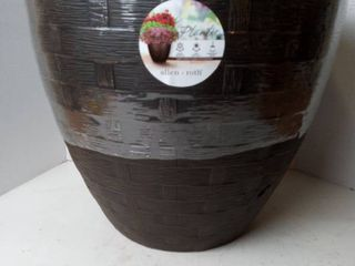 16 inch brown planter