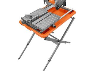 RIDGID 9 Amp Corded 7 in  Wet Tile Saw with Stand