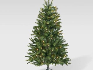 4 5 foot Noble Fir Pre lit String light or Unlit Hinged Artificial Christmas Tree by Christopher Knight Home Retail 89 99