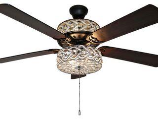 Olivia Beaded Wedding Band 5 blade lED Ceiling Fan
