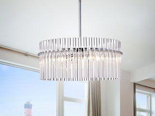 Casandra 4 light Chrome Pendant Crystal Chandelier  Retail 197 99