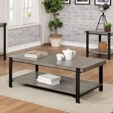 Carbon loft Shelton Contemporary Grey Wash Coffee Table  Retail 298 49