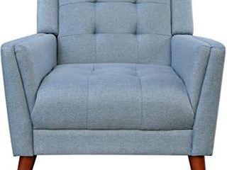 Blue Modern Fabric Arm Chair