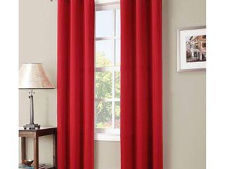 Kenneth Energy Saving Blackout Grommet Top Curtain Panel Red   Sun Zero
