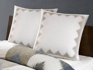 Ink Ivy Isla Cotton Embroidered European Sham Bedding