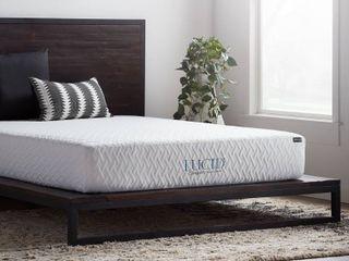 lUCID Comfort Collection 10 inch luxury Gel Memory Foam Mattress   Twin Retail 204 99