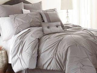 PCT Home Collection Ella 8 Piece Comforter Set   Queen   Platinum