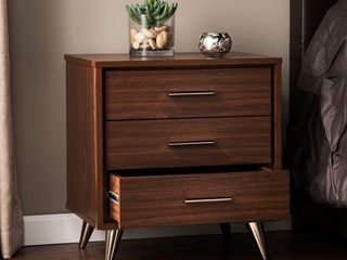 Carson Carrington Armoy Bedside Table with drawers Retail 113 99