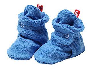 Zutano Unisex Baby Cozie Fleece Bootie  Periwinkle  6 Months   0 6 months