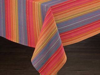 lintex linens Phoenix Striped Dobby Textured Cotton Imported Tablecloth