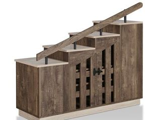 Furniture of America Garner Rustic Shoe Storage Cabinet  Retail 293 99