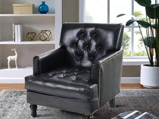Sophia   William living Room Chair Mid Century Accent Sofa Chair Modern PU leather Armchair Retail 269 99