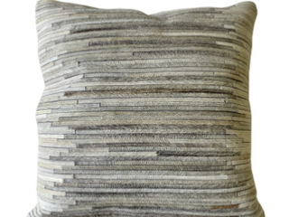 Polyester Single Accent Maxwell Throw Pillow Ivory Grey