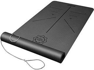 DAWAY Eco Friendly TPE Yoga Mat Y8 Wide Thick Workout Exercise Mat  Non Slip Grip Pilates Mats