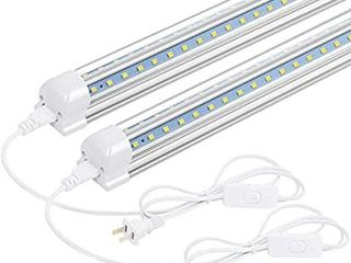 T8 lED light Fixture  2FT 1680lm 14W Under Cabinet lighting  6500k White  Ceiling and Utility Shop light 2 Pack