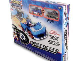 NKOK Sonic the Hedgehog All Stars Racing Transformed R C Slot Car Set Race Set  Sonic and Shadow
