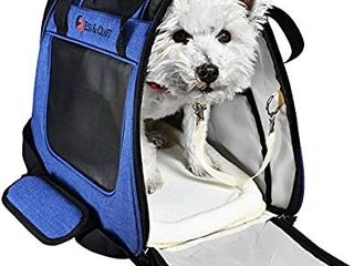 Pet Carrier For Small Cats and Dogs   Airline Approved   Side loading Travel Bag With Sturdy Bottom   Fleece Bed   Ventilated Pouch With Top Comfy Handle   Zipper locks   For Dogs  Cats    Small Pets