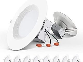 10 Pack 5 6 Inch Slim lED Downlight with Junction Box