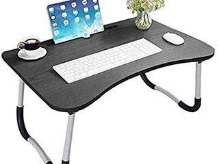 laptop Bed Table  Breakfast Tray with fold able legs  Portable lap Standing Desk  Notebook Stand Reading Holder for Couch Sofa Floor Kids   Standard Size