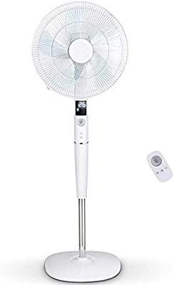 PElONIS Fan  Quiet DC Motor Oscillating Standing Pedestal Fan with Powerful 26 Speed  5 Silent Modes  12h On Off Timer