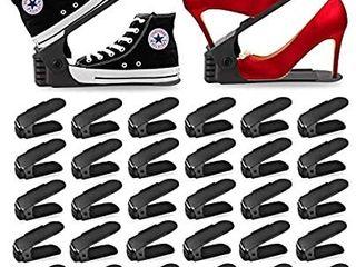 Shoe Slots Organizer 30Pcs Adjustable Shoe Stacker 50  Space Saver  Double Deck Shoe Rack Holder for Closet