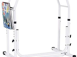 Medical Bathroom Adjustable Height Toilet Rail Grab Bar and Commode Safety Frame Handle