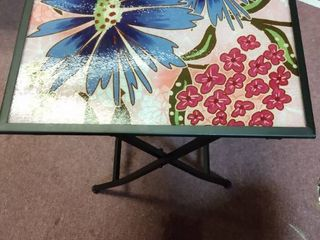 Collapsible Glass Metal Table