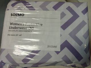 Size Medium Solimo Women s Protective Underwear 20 Count