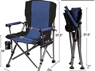REDCAMP Camping Chair for Adults Heavy Duty  Sturdy Steel Folding lawn Chair with Padded Hard Arms and Cup Holder