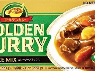 Japanese Curry Mix  S B Golden Curry  Medium Hot 220g 2 Pack