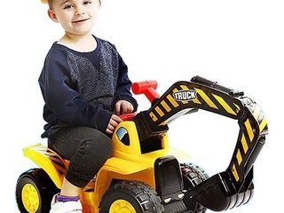 Toy Tractors For Kids Ride On Excavator   Music Sounds Digger Scooter Tractor Toys Bulldozer Includes Helmet With Rocks   Ride On Tractor Pretend Play   Toddler Tractor Construction Truck   By Play22