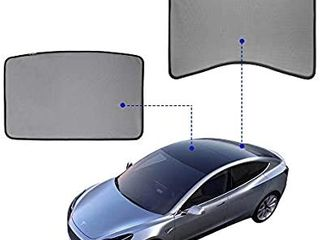 Model 3 Glass Roof Sunshade Sunroof Rear Window Sunshade Compatible for Tesla Model 3  2 of Set   top roof  Rear