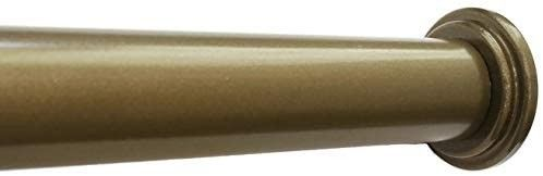 Metal Premium Adjustable Tension Rod  Heavy Duty  24 inch to 42 inch  Antique Gold