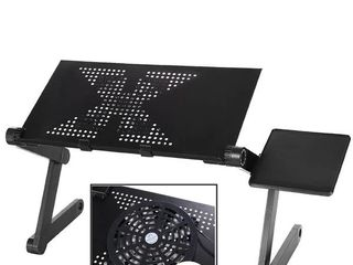 Ergonomic Foldable laptop Stand Portable laptop Mesa Notebook Table With USB Fan and Mouse Pad